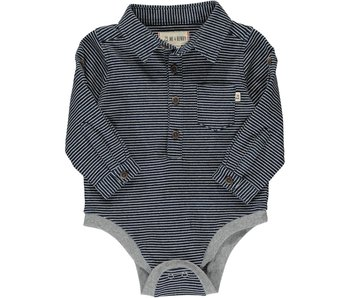 Me & Henry Heathered Blue jersey onesie