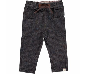Me & Henry Navy/Brown woven trousers -size 5/6