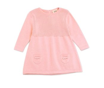 Viverano Organics A-Line Long Sleeve Baby Dress Sweater Knit