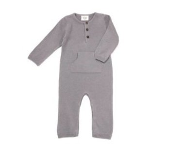 Viverano Organics Sweater Knit Kangaroo Coverall Romper -size 6-12 months