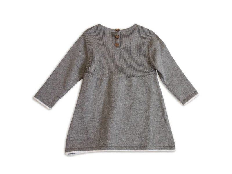 Viverano Organics Long Sleeve A-Line Sweater Knit Baby Dress -size 18-24 months