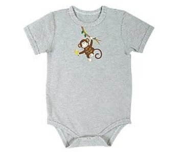 Stephan Baby Stripe Monkey Snap shirt size 6-12 Months