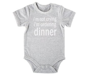 Stephan Baby Ordering Dinner snap shirt size 0-3 months