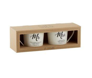 Creative Brands Mr & Mrs Cafe Mug Set