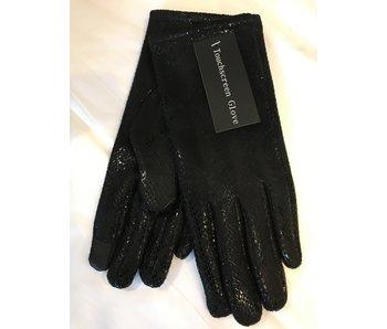 Mademoiselle E Touch Snake Skin Gloves