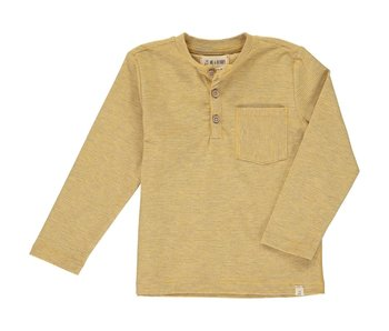 Me & Henry Yellow Stripe Henley shirt -size 6-12M