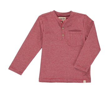 Me & Henry Red Stripe Henley shirt -size 12-18M