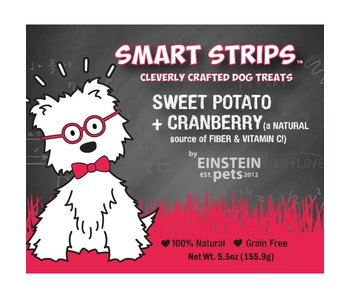 Einstein Pets 5.5 oz Bags Sweet Potato + Cranberry Chew Treats