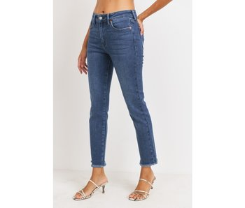 Just USA High Rise relaxed fit mom jeans with frayed bottom