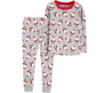 Carter's Carter's Two piece Santa pajamas -Gray
