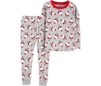 Carter's Carter's Two piece Santa pajamas -Gray
