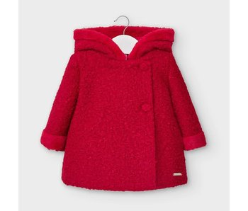 Mayoral Red baby girl dress coat -size 6M