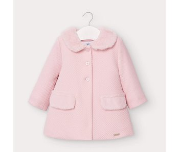 Mayoral Knitted baby girl pink dress coat -size 6M