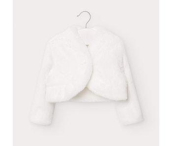 Mayoral Bolero Style Fur cardigan baby girl -size 6M