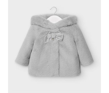 Mayoral Grey Fur coat baby girl -Size 6 M