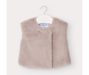 Mayoral Fur vest baby girl -size 6M