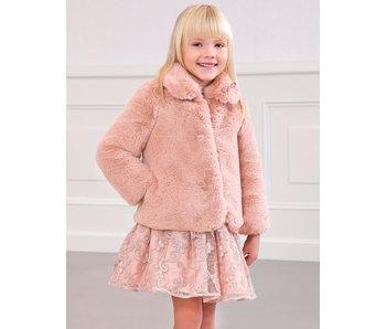 Abel & Lula Fur coat Pink -size 4