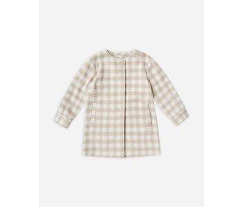 Rylee & Cru Winnie Coat -Oat Check -size 4-5Y