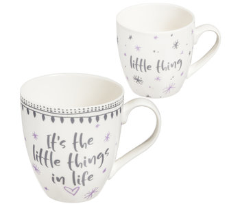 Evergreen Enterprises Mommy & Me Ceramic cup gift set -It's the little things in life