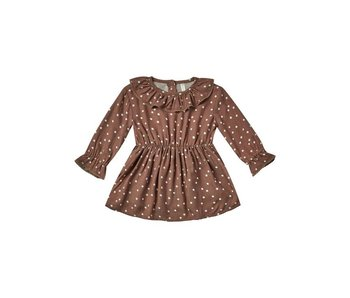 Rylee & Cru Dot Ruffle collar baby dress -size 6-12 Months