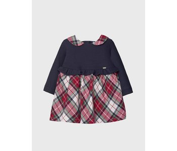Mayoral Mayoral Plaid dress with collar baby girl -size 6M