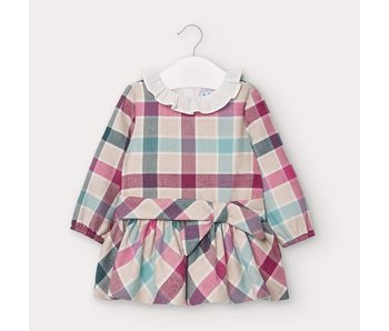 Mayoral Mayoral Plaid dress baby girl -size 6 months