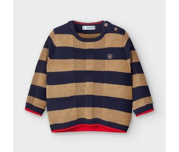 Mayoral Mayoral striped crew neck sweater baby boy -size 6M