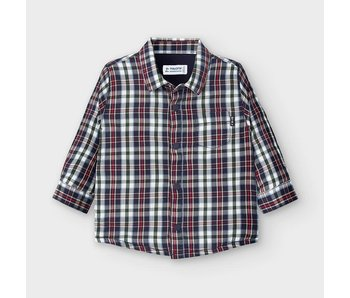 Mayoral Mayoral flannel like shirt baby boy -size 6M