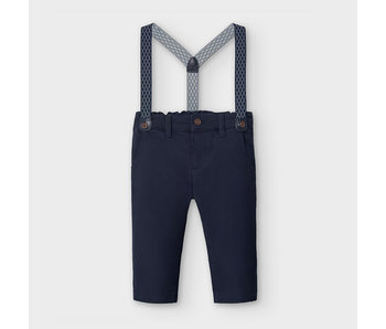 Mayoral Mayoral chino pants with suspenders -size 6M