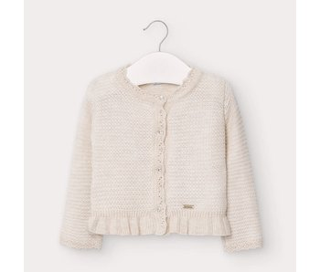 Mayoral Mayoral Woven Knit cardigan -size 6M