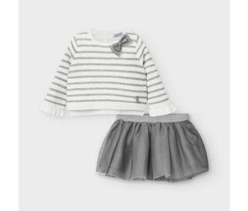 Mayoral Mayoral Tulle skirt with matching sweater -size 6M
