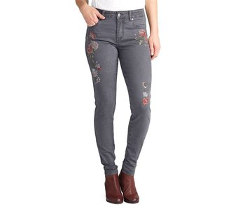 Coco & Carmen Coco + Carmen Lark Embroidered Jeans Gray