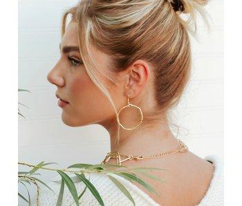Pretty Simple Round Hammered Hoop Earrings