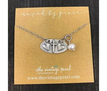 The Vintage Pearl Saved by Grace Necklace