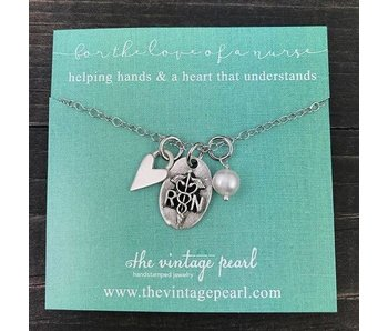 The Vintage Pearl For the Love of a Nurse Necklace