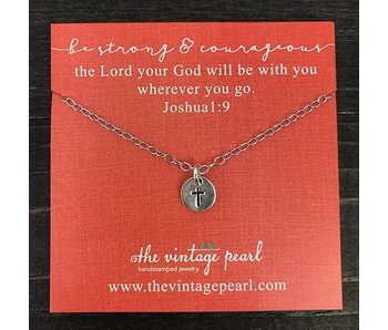 The Vintage Pearl Be Strong and Courageous Necklace