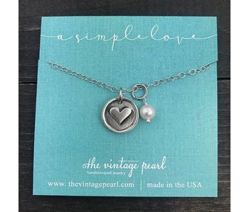 The Vintage Pearl A Simple Love Necklace