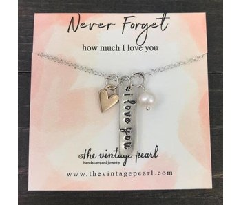 The Vintage Pearl Never Forget How Much I Love You Necklace