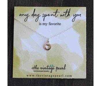 The Vintage Pearl Any day spent with you Necklace (sterling silver)