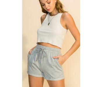 Hyfve ROLL-UP DRAWSTRING WAIST SHORTS