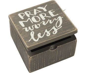Primitives by Kathy Pray more worry less hinged box