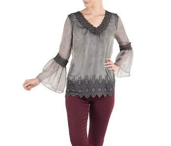 Coco & Carmen Lumi Crochet Trim Top -Small/Medium