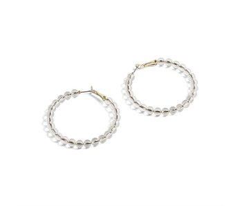 Coco & Carmen Clear bead Claire earrings
