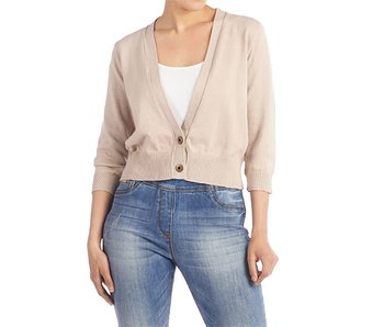 Coco & Carmen Birch cropped cardigan