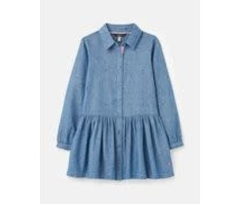 Joules Joules Amelia luxe null woven shirt dress -size 6