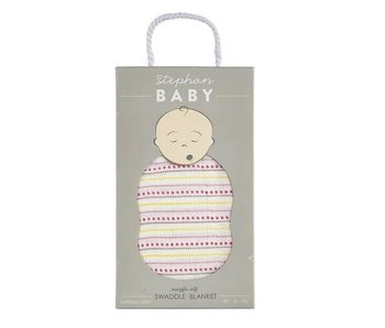 Stephan Baby Swaddle Blanket-Pink Dot