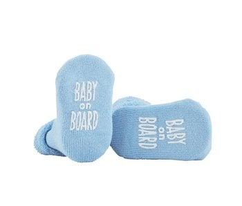 Stephan Baby Baby On Board Blue Socks 3-12 months