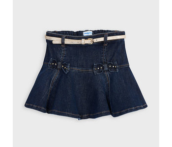 Mayoral Denim skirt with belt -size 4