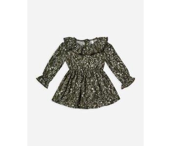 Rylee & Cru Rylee and Cru Vines Ruffle Collar baby dress -size 6-12M