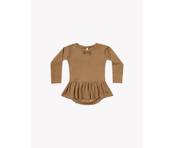 Quincy Mae Quincy Mae Pointelle skirted bodysuit